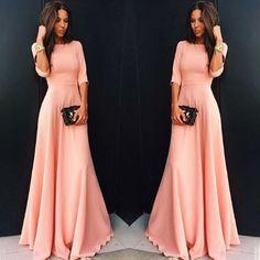 992ca5c43287 Dlouhé večerní šaty Shanelle – růžovéPošta Zdarma Prom Dresses