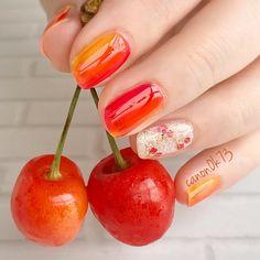 Cute Nail Art, Cute Nails, Summery Nails, Beauty Nails, You Nailed It, Cherries, Painting, Instagram, Makeup