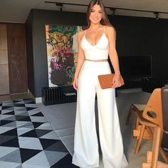 Pin on Look do dia - Outfits - Looks Classy Outfits, Chic Outfits, Trendy Outfits, Summer Outfits, Summer Dresses, Fiesta Outfit, Mode Chanel, Outfit Trends, Elegant Outfit