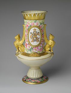 Vase, 1883  Decorated by Edward Lycett (American, born in England 1833–1910)  Possibly made in EuropePorcelain, overglaze enamel decoration and gilding