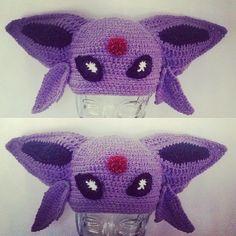 Finished #crochet #espeon #Pokemon #hat for @nellevator #halloween #costume #diy