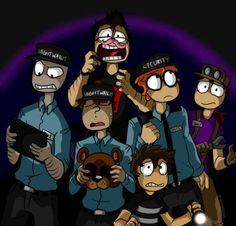 Markiplier and the FNAF Gang by FNAFNations