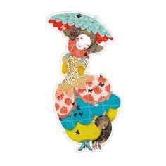 Puzzle Princesse Charline 37 pièces pour enfant De 4 ans à 6 ans Djeco - Oxybul éveil et jeux