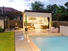 Pool ideas - Find pool ideas with of swimming pool photos Hot Tub Backyard, Backyard House, Backyard Pool Landscaping, Small Backyard Pools, Swimming Pools Backyard, Landscaping Ideas, Backyard Ideas, Wedding Backyard, Pool Gazebo