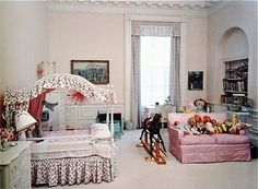 Caroline Kennedy's Bedroom - White House Sister Parish 1962