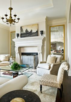 living room designed by Carole Weaks, Atlanta Homes & Lifestyles Formal Living Rooms, Living Spaces, Living Room Designs, Living Room Decor, Room Interior, Interior Design, Atlanta Homes, Decoration Design, Beautiful Living Rooms