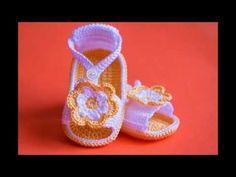 Sandalias para niños Tejidas a crochet Parte 1 de 2 - YouTube