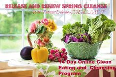 """Has winter left you feeling run-down, depleted, and in a funk that you can't seem to shake? Wouldn't it be great to get your energy back and hit the """"refresh"""" button on your body?    Join my Release and Renew 14 Day Online Spring Cleanse starting May 9th 2016. Click here for more information https://releaseandrenewcleanse.eventbrite.com"""