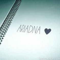 Nombre Ariadna / Name Ariadna / Ariadna / nombre / name
