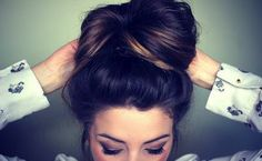 "big bun - I love doing this :) In dance we called it a ""messy bun"" *a little tighter/smaller for work out* *bigger n fluffy for fun*"