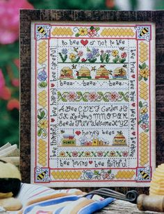 BUBLE BEE SAMPLER Counted Cross Stitch by ThePamperedStitcher