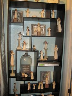 Willow Tree Collection - love this display case!