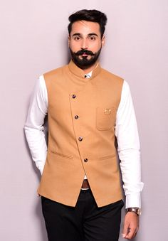The Royal Armour to any traditional attire, Jawahar Jackets enhance the look for all occasions! Be it marriage or festivals; dress up in these precisely crafted jackets that come in a mix of royal colours, finest fabrics and rich embroidery. Indian Men Fashion, Mens Fashion Suits, Men's Fashion, Dress Suits For Men, Men Dress, Man Dress Design, Angrakha Style, Nehru Jackets, Designer Suits For Men
