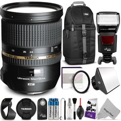 Tamron SP 24-70mm f/2.8 Di VC USD Lens for CANON Digital SLR Cameras w/ Complete Bundle