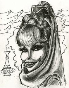 Barbara Eden in I Dream of Jeannie | by Caricature80