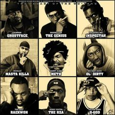 This is my favourite old school rap group, Wu Tang Clan.