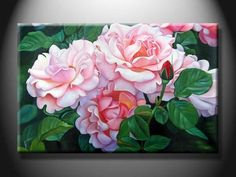 Oil Paintings of Flowers | ... Oil Painting with Flower XSHH103 - quality Handmade Oil Paint for sale