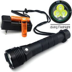 New Underwater 5000LM CREE XM-L2 LED Diving Flashlight Torch Lamp Light Waterproof Best Portal