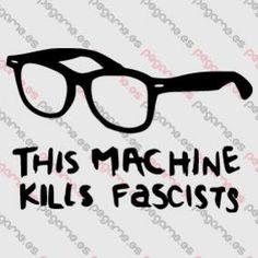 Pegame.es Online Decals Shop  #glasses #social #politics #fascism #fascist #vinyl #sticker #pegatina #vinilo #stencil #decal
