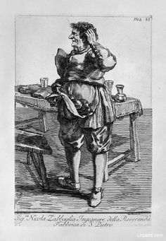 Zabaglia caricature of Nicholas, the Reverend Fabric of St. Engineer Peter : Giovanni Battista Piranesi : Neoclassicism : caricature - Oil Painting Reproductions