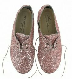 Derbies paillettes - Rose pale # Anniel