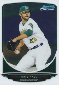 2013 Bowman - Chrome Prospects BCP40 Kris Hall Oakland Athletics Baseball Card
