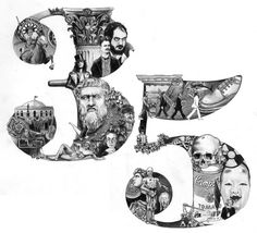 Illustrated Typography by Emil Bertell, via Behance