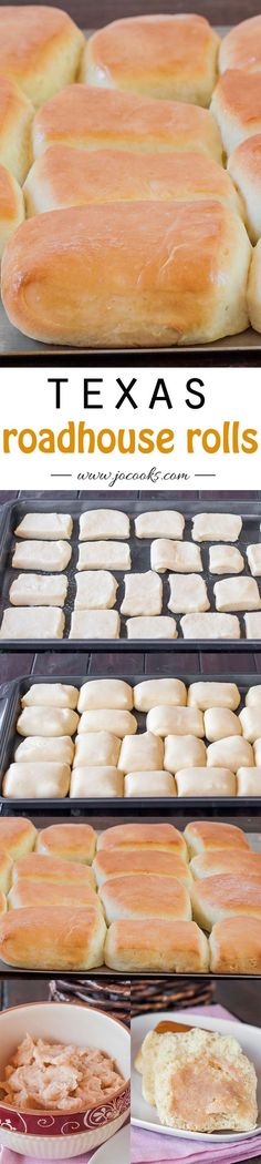 Roadhouse Rolls – copycat recipe of the Texas roadhouse rolls, not only that but the best rolls you will ever eat.Texas Roadhouse Rolls – copycat recipe of the Texas roadhouse rolls, not only that but the best rolls you will ever eat. Think Food, I Love Food, Good Food, Yummy Food, Tasty, Jo Cooks, Dinner Rolls, Restaurant Recipes, Copycat Recipes