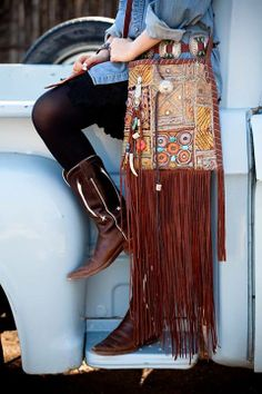 Ooo So Santa Fe - Across the body bags  Navajo Handbags made from blankets / rugs, vintage horse tack, and deer, elk or cowhide leathers. I embellish the bags with vintage trade beads, turquoise, coral, nickel silver/German silver Concho buttons, nickel silver spots/studs, and deer antler tips