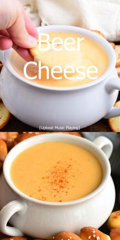 Amazing Food Videos, Appetizer Recipes, Appetizers, Beer Cheese Soups, Soft Pretzels, Game Day Food, Beer Dip, Pretzel Dip, Cooking Recipes