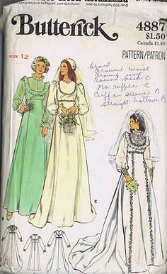 This is the pattern I used for my wedding dress.