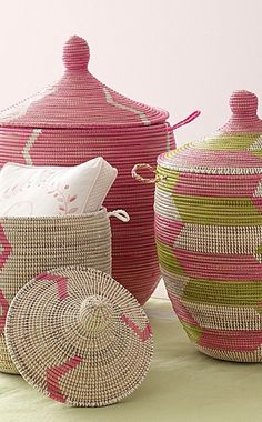Senegalese Storage Baskets- I didn't realize that these had a name. They'd look great in the living room.