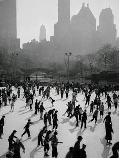 Iceskating in New York Photographic Print at Art.com