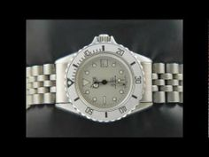 Heuer 1000 Submariner Ladies Midsize watch Pewter with a silver dial 982.015