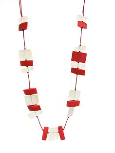 Buy One Button Faceted Bead Long Necklace, White/Poppy Red from our Women's Necklaces range at John Lewis & Partners. Button Necklace, Red Poppies, Color Pop, Poppy Red, Buttons, Beads, John Lewis, Stuff To Buy, Bright