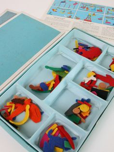fuzzy felt - the pieces would get everywhere and stick to your clothes.