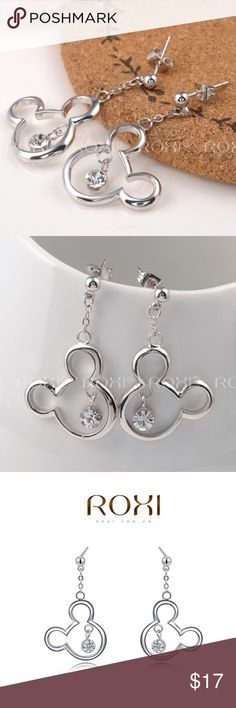 "Mickey Mouse Silver Crystal Earrings NWT, a lovely present for any Disney lover! Very lightweight and easy to wear. Use the ""Add to Bundle"" button to purchase more than one item in my closet at once; you'll receive a bundle discount and only pay one shipping fee! Jewelry Earrings"