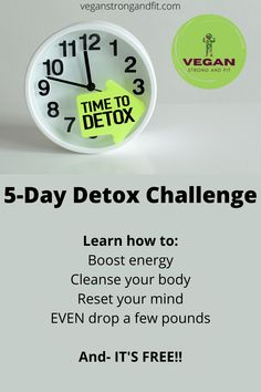 Learn how to boost your energy, cleanse your body, reset your mind, and even drop a few pounds all before Thanksgiving! Oh- and it's completely FREE! This 5-day live detox challenge will be November 19-23, 2020 at 8pm EST! Repin and reserve your spot now! Body Reset, Cleanse Your Body, 5 Day Detox, Detox Tea, Detox Juice Recipes, Detox Drinks, Detox Diet For Weight Loss, Detox Challenge, Vegan Lifestyle