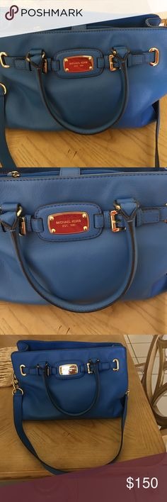Great Price MK turquoise handbag. First come first serve in this perfect for summer handbag. Michael Kors Bags Shoulder Bags