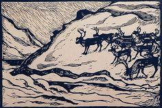 Winter Illustration, Snow Scenes, Wood Engraving, Pen And Paper, Woodblock Print, Printmaking, Monochrome, Scandinavian, Deer
