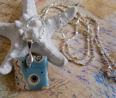 Starlight Polymer Clay Mokune Gane Necklace by by TLSClayDesign, $24.99