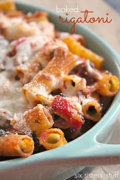 Love this Baked Rigatoni from The Girl Who Ate Everything! Super easy and so deicious!