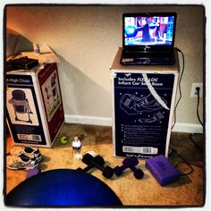 Workout area... It is so easy to get started. Keep pushing PLAY! P90X2