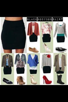 Black skirt, diferentes combinaciones