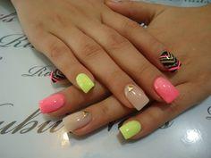 gel nail salon design I really like. Nail Salon Design, Acrylic Nail Designs, Nail Art Designs, Acrylic Nails, Gel Nails, Gorgeous Nails, Spring Nails, Coffin Nails, Beauty