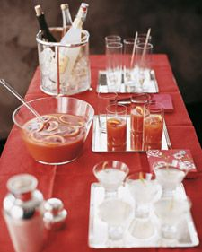 Blood-orange punch, perfect for a Christmas party!