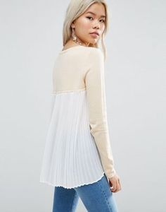 ASOS Jumper with Pleat Back