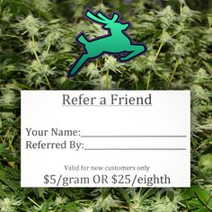 Ripped City had a great first week! To say thank you to our customers, we now have a referral program!  Our customers can receive a $25 eighth or a $5 gram when your friend brings this Referral Card to their first visit with us! We'll keep it on file and you'll receive your prize during your next visit.  GET RIPPED WITH RIPPED CITY! #rippedcity #dispensary #grandopening #cannabusiness #cannabiscommunity #pdxdispensary #medicalmarijuana #420 #pdx420 #cannabis #mmj #gresham #pnw #oregon…