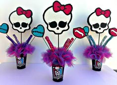 Monster High Theme Centerpieces