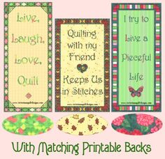 free printable quilty bookmarks